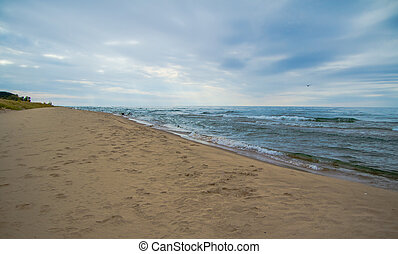 Great Lakes Blue - The blue waters of Lake Michigan meet the...