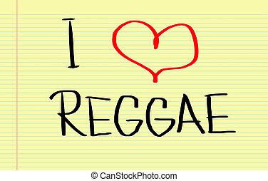 reggae, conceito, Amor
