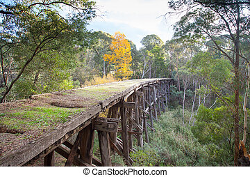 Old Trestle Bridge in Koetong - A historic disused railway...