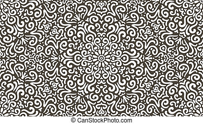 Intricate fantasy contrast seamless pattern - Intricate...