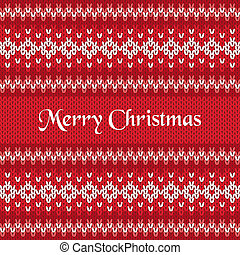 Merry Christmas Greeting Card on Winter Geometric Ornament...