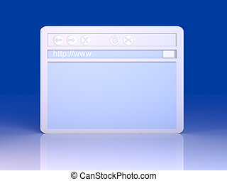 Browser Window - 3D Illustration A symbolic Browser Window...