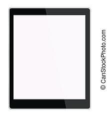 tableta, aislado, Ilustración, computadora, BAC, nuevo,...