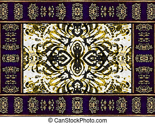 Ornament Decorative Old Style Artwork - Digital collage art...