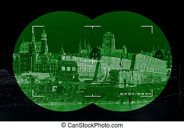 War Damage - War damage ruins in Gdansk - view through the...