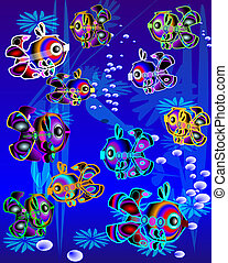 colorfull fishes in marine environment - nice fishes...