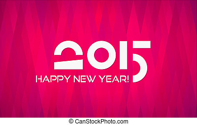 Abstract Minimalistic Flat Happy New Year 2015 Banner with...