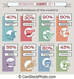 InfogrElements1color - Set of vector colored infographic...