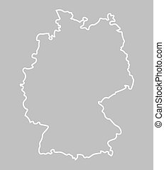 white abstract map of Germany