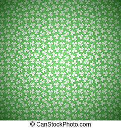 Green Floral Background with White Seamless Pattern from...