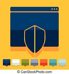 Flat design internet security guard