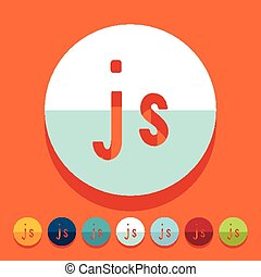 Flat design. js