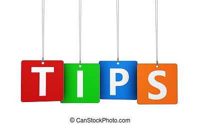 Tips Word On Tags - Website, Internet and blog concept with...