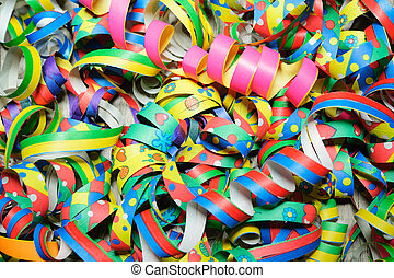 carnival background - Colorful carnival streamers background...