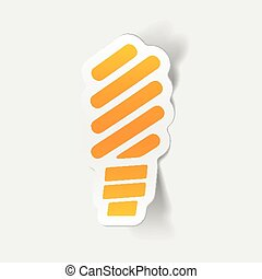 realistic design element: fluorescent light bulb