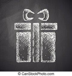 doosje, cadeau, pictogram