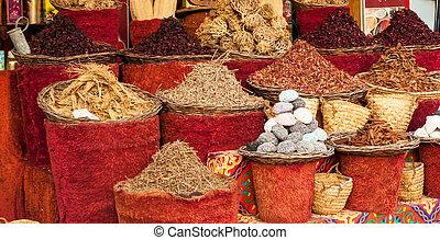 Street shop - Street market in Egypt. Old Market. Sharm el...