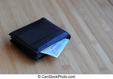 Wallet with Euro money
