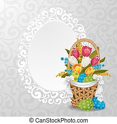 Easter background - Elegant background for easter greeting...
