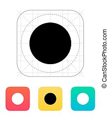 New moon abstract icon. Vector illustration.