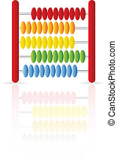 Abacus icon isolated on a white background