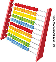 Abacus 3d icon isolated on a white background