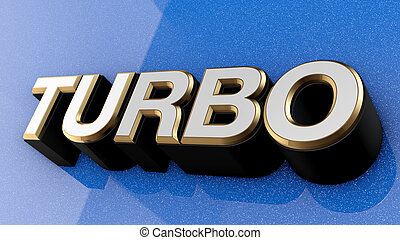 TURBO sign, label, badge, emblem. - TURBO sign, label,...