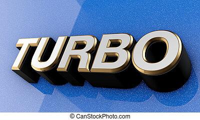 TURBO sign, label, badge, emblem. - TURBO sign, label,...