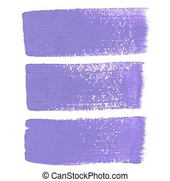 Lilac ink vector brush strokes