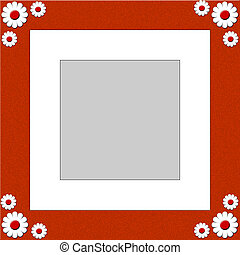 Flower Shape Photograph Frame - Flower shapes within a photo...