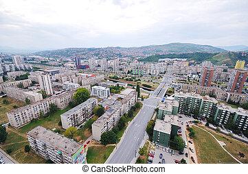 sarajevo cityscape - arial architecture sarajevo cityscape...