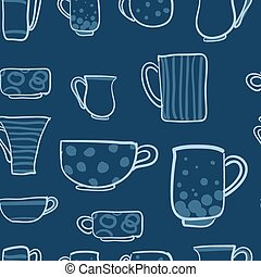 Set cups vector