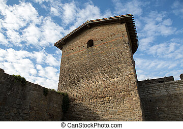 Carcassonne - The walls of the Old city Carcassonne in...