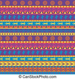 mexican pattern - vector seamless mexican pattern in bright...