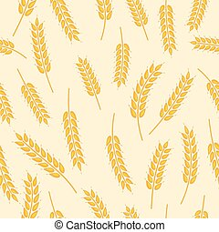 spikelet pattern - vector seamless pattern with images of...