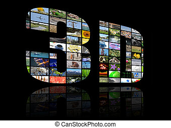 3d television multimedia background