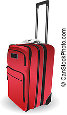Luggage Icon isolated on a white background.