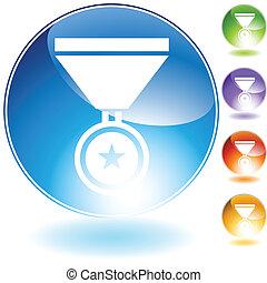medal crystal