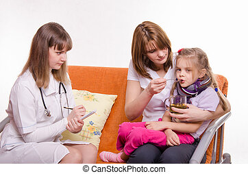 Pediatrician prescribes treatment child whose mother gives...