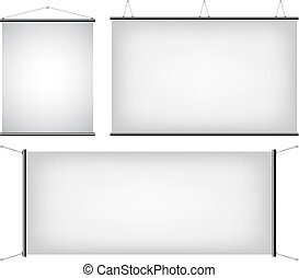 canvas banners - a set of promotional canvas banners...