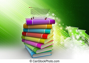 hand truck with books