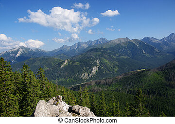View of the Tatras - Panorama of the beatiful Polish...