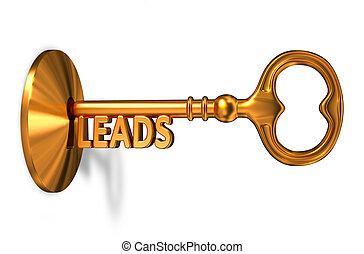 Leads - Golden Key is Inserted into the Keyhole. - Leads -...
