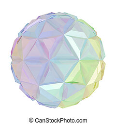 Colorful abstract sphere isolated on white background