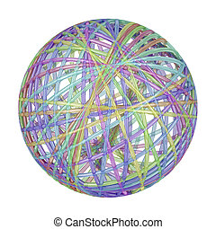 Glass abstract sphere with different colors