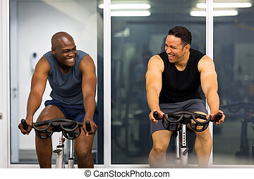 men working out in gym