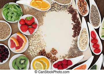 Natural Health Food - Health food selection in porcelain...