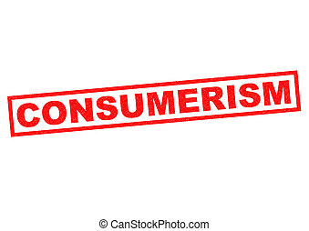 CONSUMERISM red Rubber Stamp over a white background