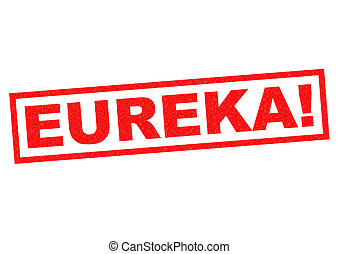 EUREKA red Rubber Stamp over a white background