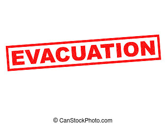 EVACUATION red Rubber Stamp over a white background.
